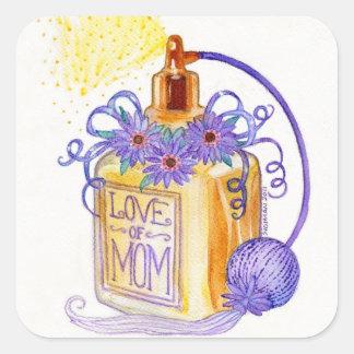 お母さんの香水瓶の母の日愛 スクエアシール