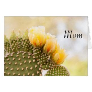 お母さんの黄色いサボテンの花 カード