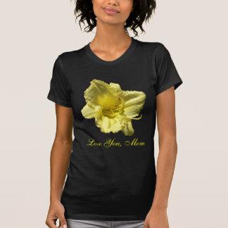 お母さんの黄色いワスレグサ愛して下さい Tシャツ
