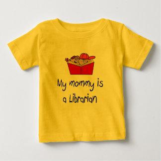 お母さんは司書のベビーのTシャツです ベビーTシャツ