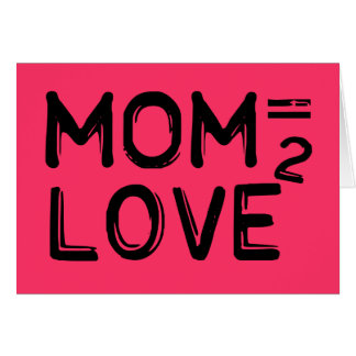 お母さんは愛によって平方されるピンクに匹敵します カード