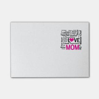 お母さんは愛-母の日かお母さんの誕生日です ポストイット