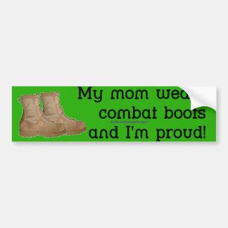 お母さんは戦闘用ブーツを身に着けています バンパーステッカー