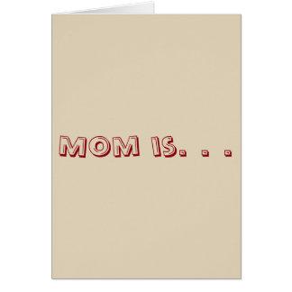 お母さんは。あります。 カード