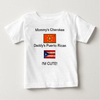 お母さんまたはお父さんの競争のワイシャツ ベビーTシャツ
