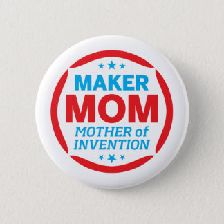 お母さんを作って下さい 5.7CM 丸型バッジ