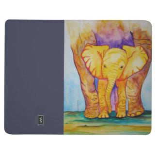お母さんを持つベビー象 ポケットジャーナル