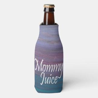 お母さんジュースの粋な女の子夜おもしろい ボトルクーラー