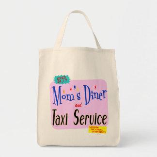 お母さんダイナーおよびトートバックを言うタクシーサービス トートバッグ