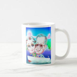 お母さん及びパパの風刺漫画のマグV. 1 コーヒーマグカップ