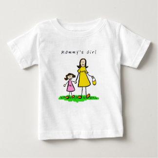 お母さん及び私(タイトルのブルネット) ベビーTシャツ