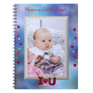 """""""お母さん少し天使""""の小さな女の子か男の子のノート ノートブック"""