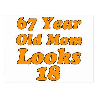 お母さん67歳は18を見ます ポストカード