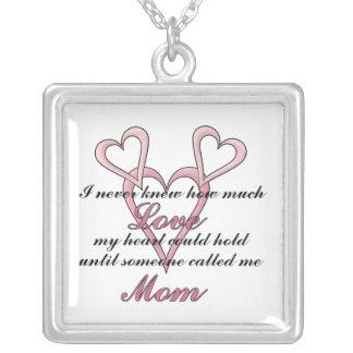 お母さん(私は決して知りませんでした)の母の日のネックレス シルバープレートネックレス