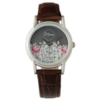 お母さん、腕時計-花愛して下さい 腕時計