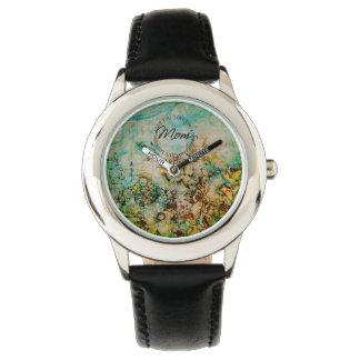 お母さん、花-腕時計愛して下さい 腕時計