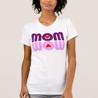 お母さんWOWのハートの反射 Tシャツ