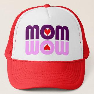 お母さんWOWの赤いハートの反射の帽子 キャップ