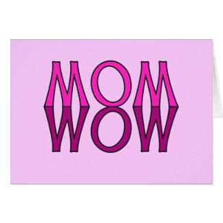 お母さんWOW! クールなお母さんの日のTシャツ カード