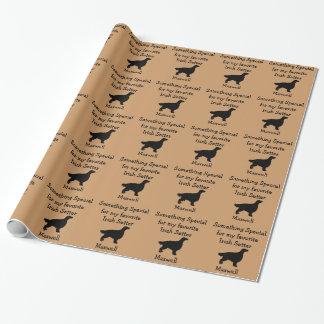 お気に入りのなアイリッシュセッターのカスタムな包装紙 ラッピングペーパー
