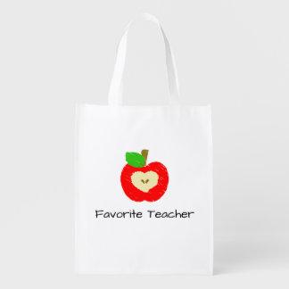 お気に入りのな先生のAppleの再使用可能な買い物袋 エコバッグ