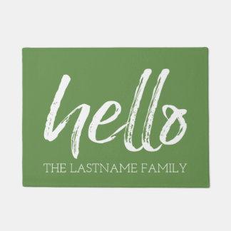 お洒落でカスタムな家族こんにちは- EDIT色はできます ドアマット