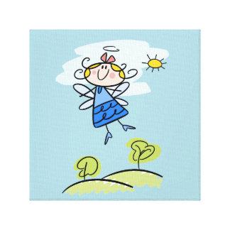 お洒落で幸せで飛んでいるな天使の妖精 キャンバスプリント