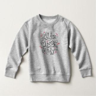 お洒落で感動的な愛引用文 のスエットシャツ スウェットシャツ
