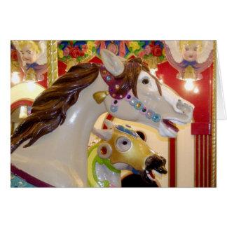 お洒落で色彩の鮮やかな馬カード カード