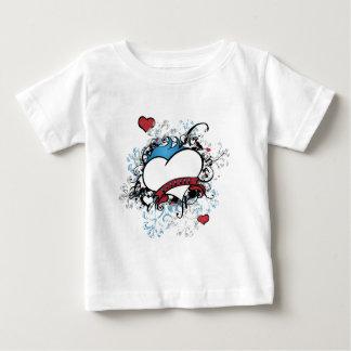 お洒落で芸術的な永久にフルーアのハートのTシャツ ベビーTシャツ