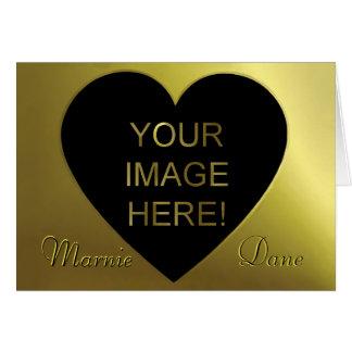 お洒落で黒い金およびモダンな結婚式招待状 カード