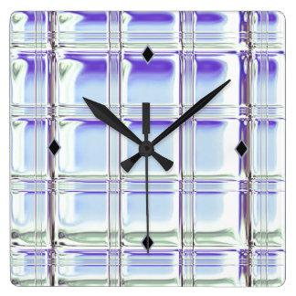 お洒落なアクリルの時計のガラス・ブロックのデジタル芸術 スクエア壁時計