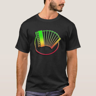 お洒落なアコーディオン Tシャツ