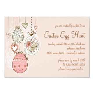 お洒落なイースターエッグ|イースターエッグの狩りの招待状 カード