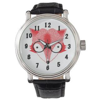 お洒落なキツネのイメージのデザイン 腕時計