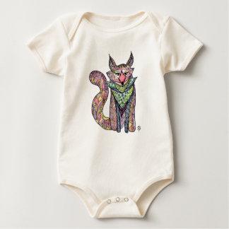 お洒落なキツネのオーガニックな赤ん坊のボディスーツ ベビーボディスーツ