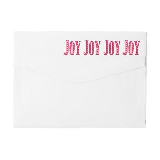 お洒落なクリスマスによって落書きされる喜びのカスタム ラップアラウンドラベル
