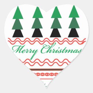 お洒落なクリスマスの幾何学的なパターン ハートシール