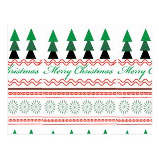 お洒落なクリスマスの幾何学的なパターン ポストカード