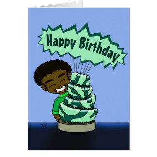 お洒落なケーキのバースデー・カード グリーティングカード