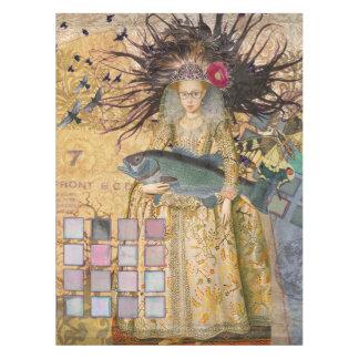お洒落なゴシック様式魚の魚類の女性のルネサンス テーブルクロス
