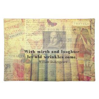 お洒落なシェークスピアの幸福の引用文 ランチョンマット