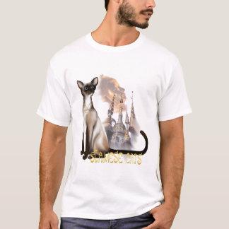 お洒落なシャム猫のTシャツ Tシャツ