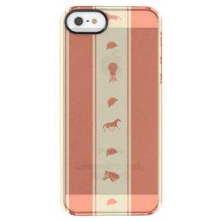 お洒落なショーの子馬の馬パターン クリア iPhone SE/5/5sケース