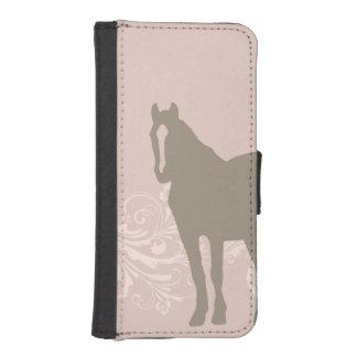 お洒落なショーの子馬の馬パターン iPhoneSE/5/5sウォレットケース