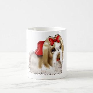 お洒落なシーズー(犬) TZU犬 コーヒーマグカップ