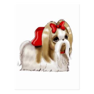 お洒落なシーズー(犬) TZU犬 ポストカード