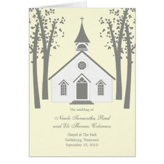 お洒落なチャペルの結婚式プログラムプログラム・カード カード