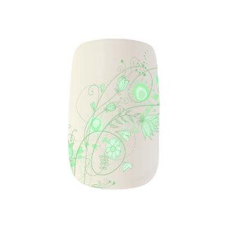お洒落なハッカの香りがする緑-指2 ネイルアート