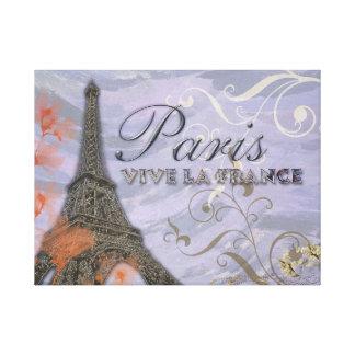 お洒落なパリエッフェル塔のモンタージュのキャンバスの芸術 キャンバスプリント